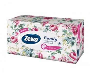 Салфетки Zewa Family в коробке, 90 шт. Zewa