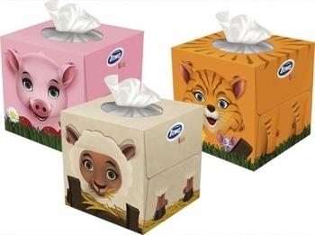 Купить:  Салфетки Zewa Zoo Cube в коробке, 60 шт., в ассортименте Zewa
