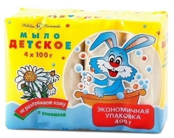 Детское мыло Ушастый нянь с ромашкой, 4х100 г Ушастый нянь