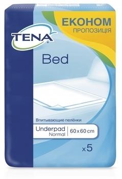 Гигиенические пеленки Tena Bed Normal 60x60cm, 5 шт. Tena