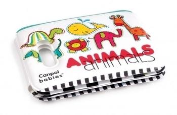 Игрушка-книжечка мягкая с пищалкой Canpol Babies Цветные зверюшки Canpol babies