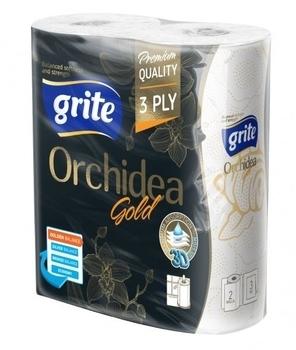 Бумажные полотенца Grite Orchidea Gold, 2 рулона Grite