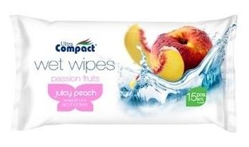 Влажные салфетки Ultra Compact Fruit персик, 15 шт. Ultra Compact