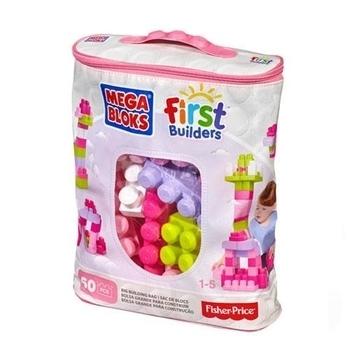 Купить:  Конструктор Mega Bloks розовый в сумке, 60 деталей Mega Bloks