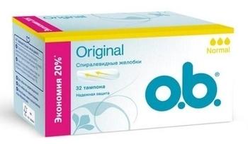 Тампоны o.b. Original Normal, 32 штуки o.b.