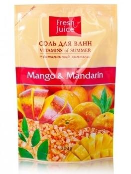 Соль для ванн Fresh Juice Mango & Mandarin, 200 мл Fresh Juice
