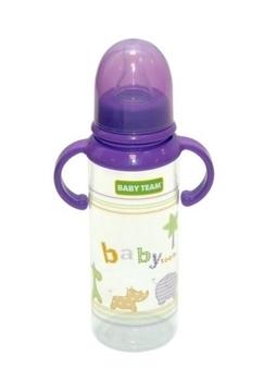 Бутылочка с ручками и силиконовой соской Baby Team, 250 мл, фиолетовый (1411) Baby Team