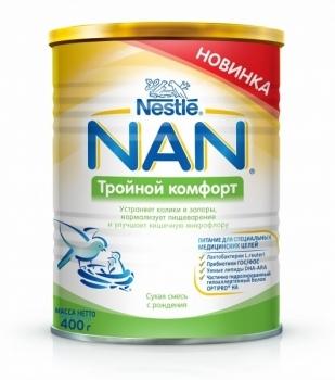 Сухая детская молочная смесь NAN Тройной комфорт, 400 г NAN