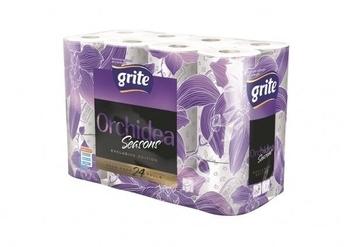 Трехслойная туалетная бумага Grite Orchidea Seasons, 24 рулона Grite