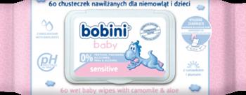 Влажные салфетки Bobini baby Sensitive 60 шт. Bobini