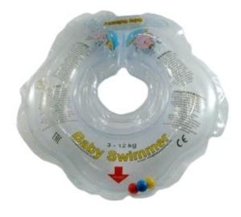 Круг для купания малышей BabySwimmer (от 0 до 24 мес.), прозрачный BabySwimmer
