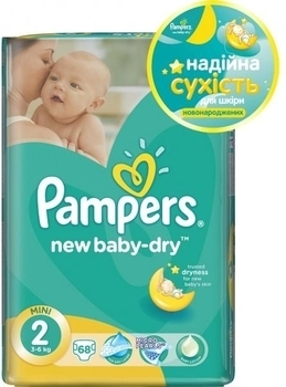 Подгузники Pampers New Baby Mini 2 (3-6 кг), 68 шт. Pampers