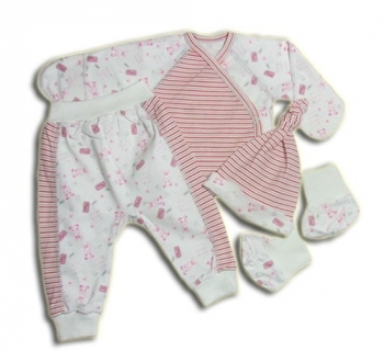 Купить:  Комплект детский Tamik, интерлок, р.18, бело-розовый (1-935-18) Tamik