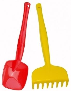 Детская лопатка и грабли Tigres, желтый с красным (39026) Tigres