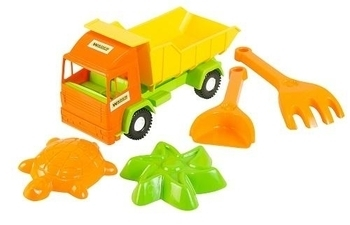 Грузовик с набором для песка Tigres Mini truck, 5 эл. Tigres