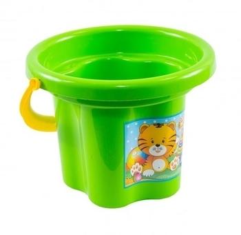 Ведро для песка Tigres Цветочек, зеленый (39019) Tigres