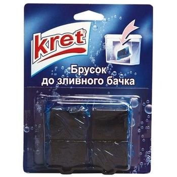 Брусок для сливного бачка Kret зеленый, 4 шт. Kret