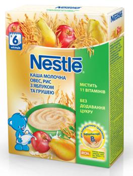 Молочная каша Nestle Овес, рис с яблоком и грушей, 200 г Nestle