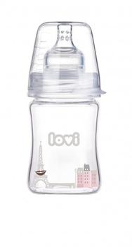 Бутылочка стеклянная LOVI Diamond Glass Retro girl, 150 мл LOVI