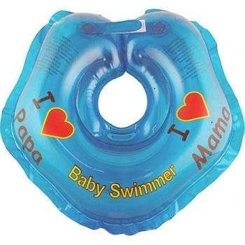 Круг для купания малышей BabySwimmer Я Люблю (от 0 до 24 мес.), синий BabySwimmer
