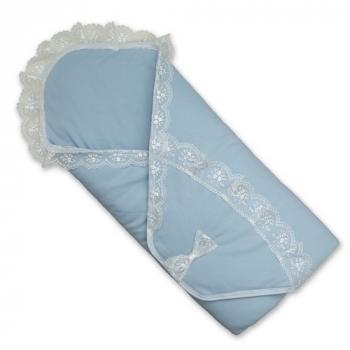betis Летний конверт на выписку BetiS Ангелочек 2, интерлок, голубой (27075463)