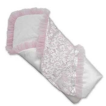 betis Летний конверт на выписку BetiS Сияние, гипюр, бело-розовый (27075745)