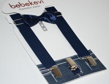 melix Подтяжки с бабочкой Bebekevi, синий (809)