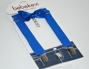 melix Подтяжки с бабочкой Bebekevi, голубой (809)