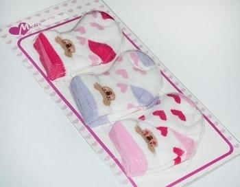 Набор носков для девочки Melix, ластик, р.6-8, 3 пары (91574-2) Melix