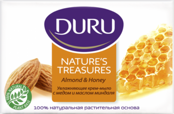 Мыло Duru Nature's Treasures с медом и маслом миндаля, 90 г - Pampik
