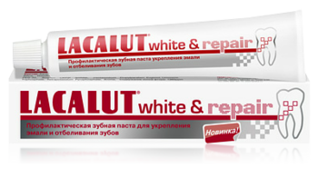 Зубная паста Lacalut White&Repair, 50 мл - Pampik