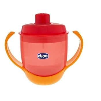 Чашка непроливная Chicco Meal Cup, красный