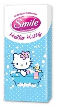 Сухие салфетки Smile Hello Kitty, 10 шт. Smile