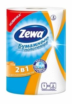 Бумажные полотенца Zewa 2 в 1 Zewa
