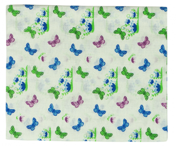 Пеленка Руно, ситец, 95х110 (204.03_метелики) Руно