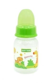 Бутылочка с силиконовой соской Baby Team, 125 мл, салатовый (1110) Baby Team