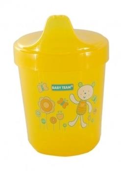 Поильник Baby Team, 100 мл, желтый (5000) Baby Team