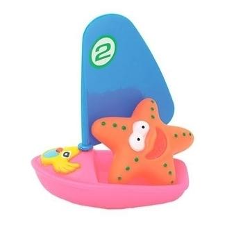 Купить:  Набор игрушек для ванны Baby Team Веселый серфер, розовый Baby Team