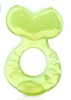 Силиконовый прорезыватель Nuby Рыбка с защитным колпачком, зеленый (620grn) Nuby