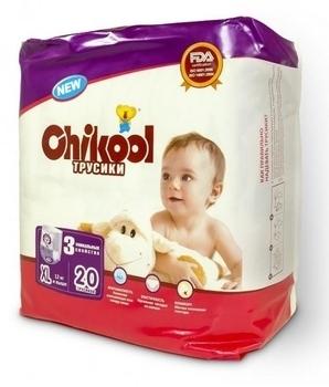 Подгузники-трусики Chikool Premium XL (12+ кг), 20 шт. Chikool