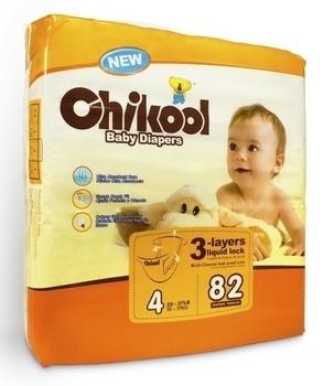 Подгузники Chikool Basic L (10-17 кг), 82 шт. Chikool