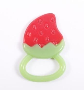 Прорезыватель для зубов Lindo Клубничка силиконовый Lindo