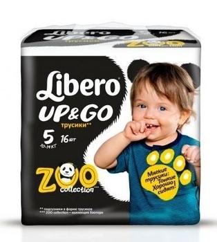 Подгузники-трусики Libero Up&Go Maxi Plus 5 (10-14 кг) 16 шт. Libero