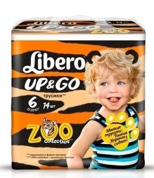 Подгузники-трусики Libero Up&Go XL 6 (13-20 кг) 14 шт. Libero