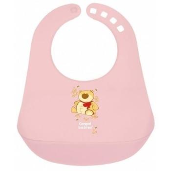 Пластиковый нагрудник Canpol Babies с карманом, розовый (2/404) Canpol babies