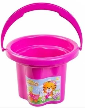 Ведро для песка Tigres Цветочек, розовый (39019) Tigres