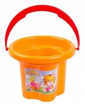 Ведро для песка Tigres Цветочек, оранжевый (39019) Tigres