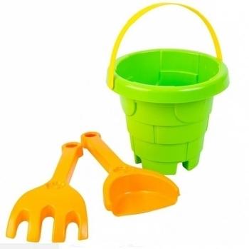 Набор для песка Tigres Башня, 3 эл., зеленый с оранжевым (39282) Tigres