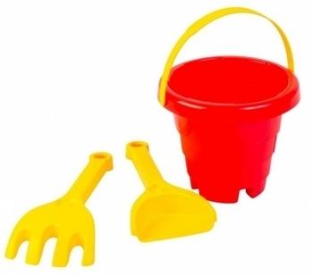 Набор для песка Tigres Башня, 3 эл., красный с желтым (39282) Tigres