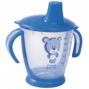 Чашка-непроливайка Canpol babies Друг медвежонок, 180 мл, голубой (31/500) Canpol babies